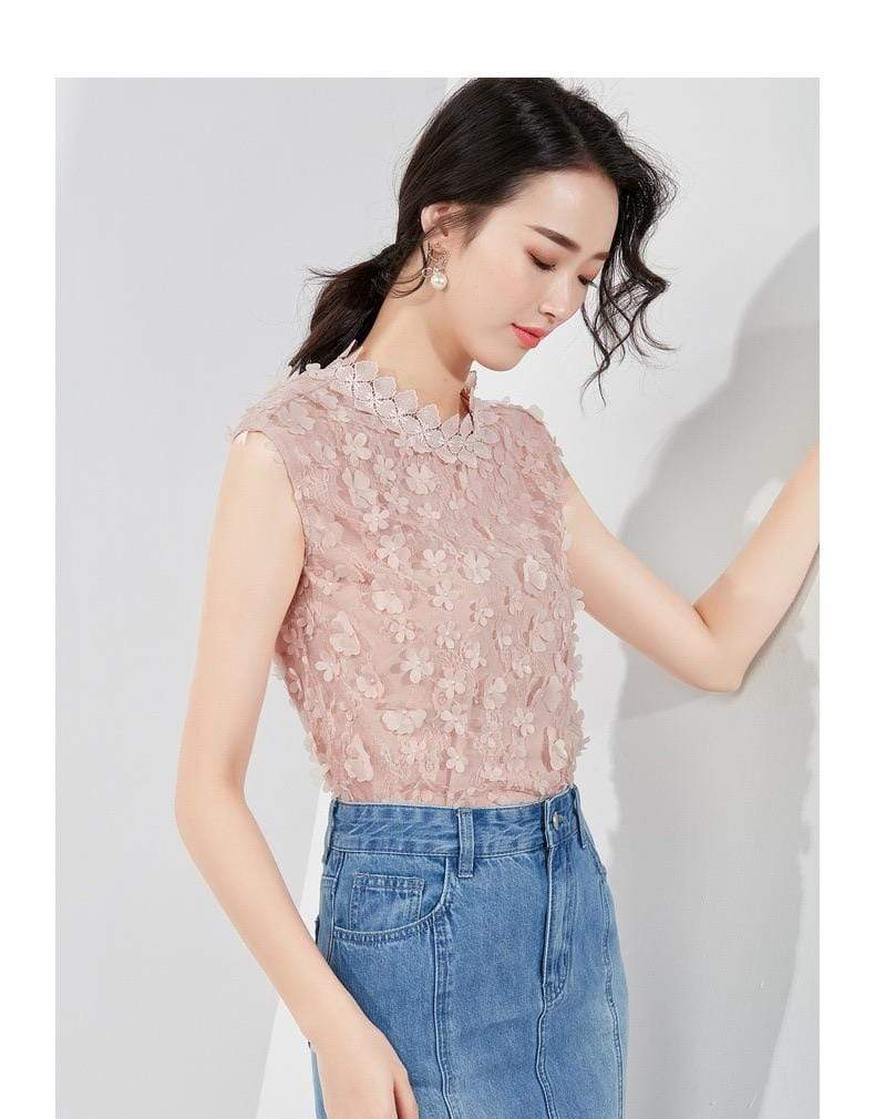 PNM CLOTHING TOP Minimal Shirt With Embroidery