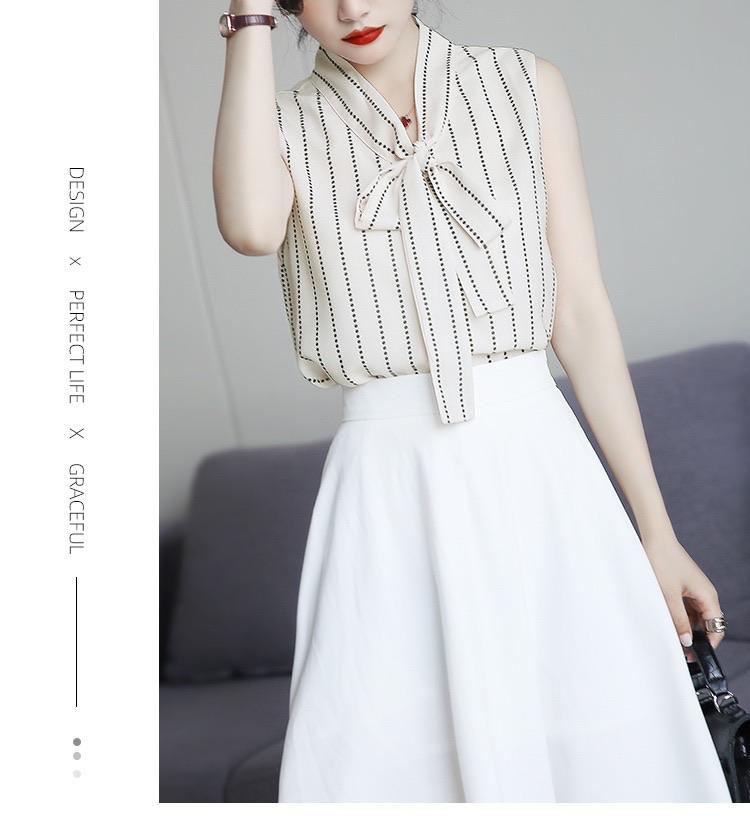 PNM ClOTHING TOP Stripe Top With Tie Detail