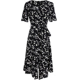 PNM ClOTHING women dress Capped Sleeved Fitted Floral Dress