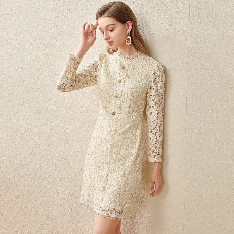 PNM CLOTHING women dress LIMITED EDITION Ruffled Embroidery Dress