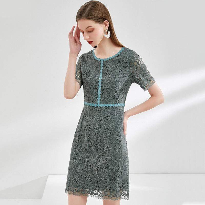 PNM CLOTHING women dress Shirt Dress With Laces