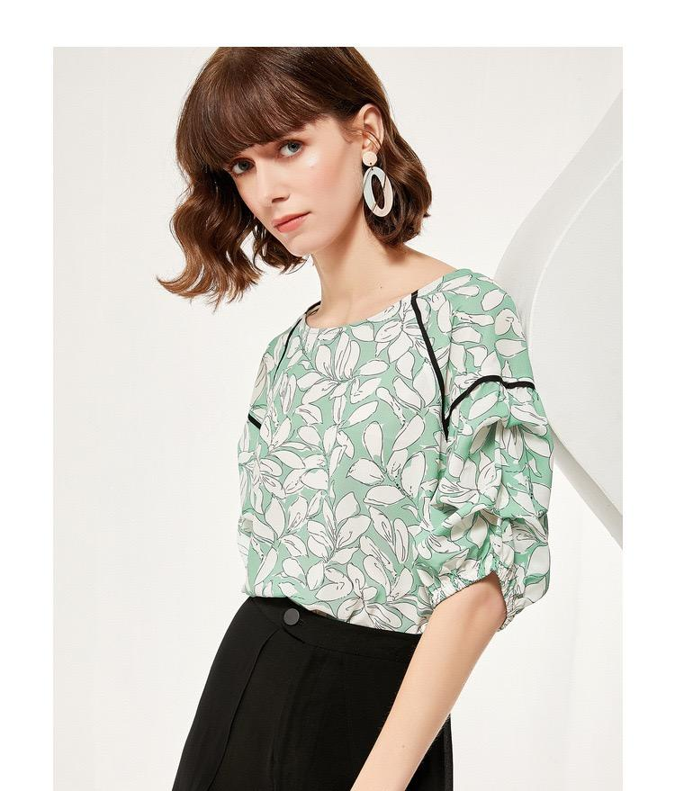 PNM TOP Floral Tied Top With V-Neck Back