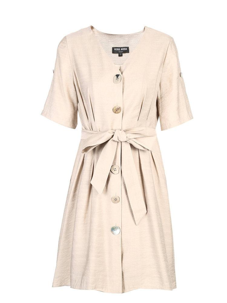 PNM women dress Shirt Dress With Belt