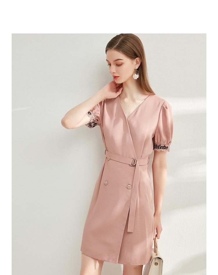 PNM women dress Sleeved Dress With Belt