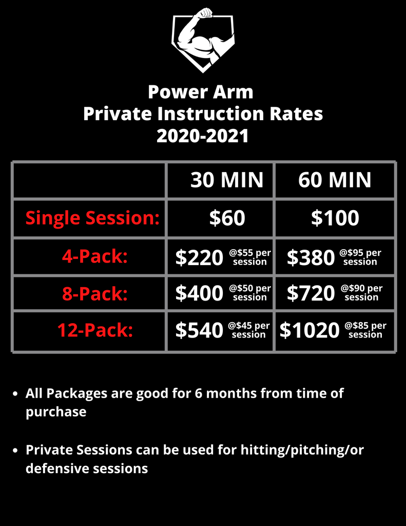 Power Arm Private Lesson Rates