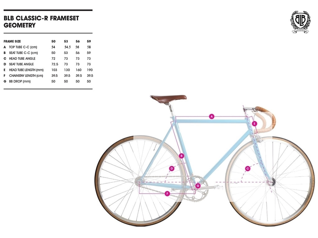 BLB Classic Commuter geometry