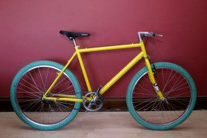 yellow mtb single speed conversion