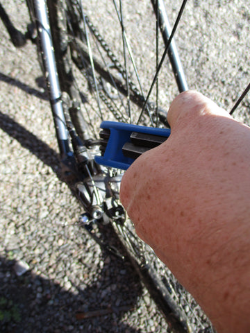 Tightening rear brake on a bicycle