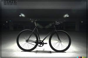 matte black fixed gear bike