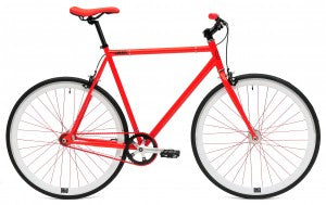 C8 red fixed gear bike