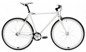 C8 white fixed gear bike