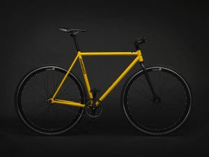 matte yellow mango bike