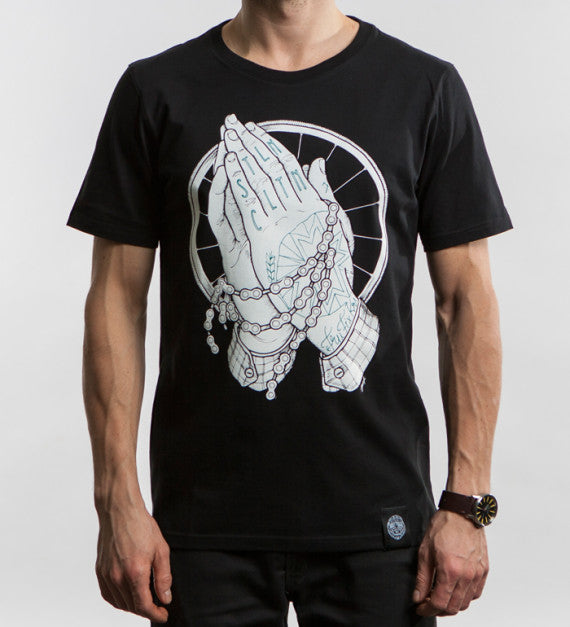 t-shirt with praying hands