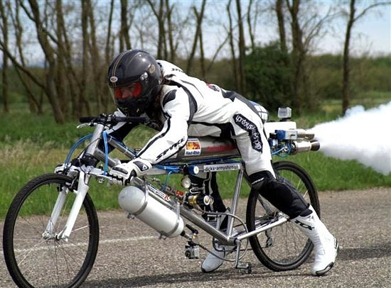 home made rocket bicycle