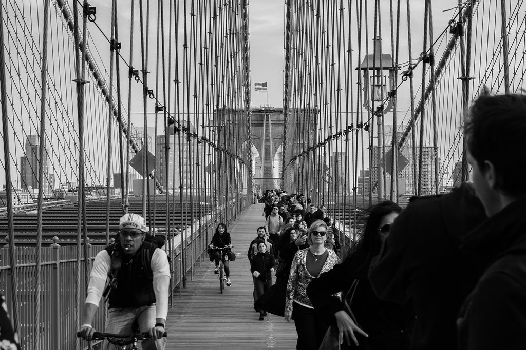 Cycling to work over Brooklyn bridge