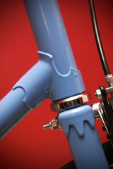 sky blue single speed ladies bike