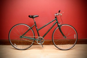 green single speed ladies racer