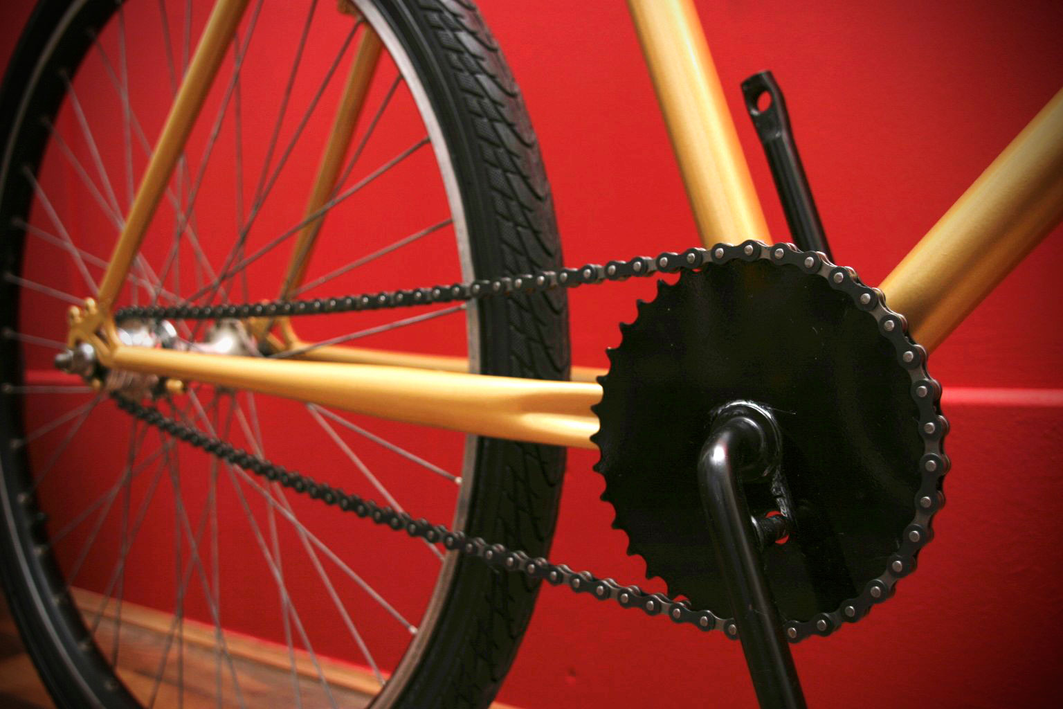 single speed converted wheel