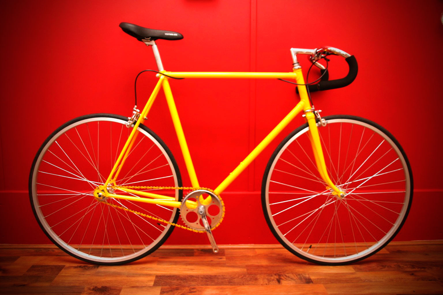 raleigh drop handlebars yellow