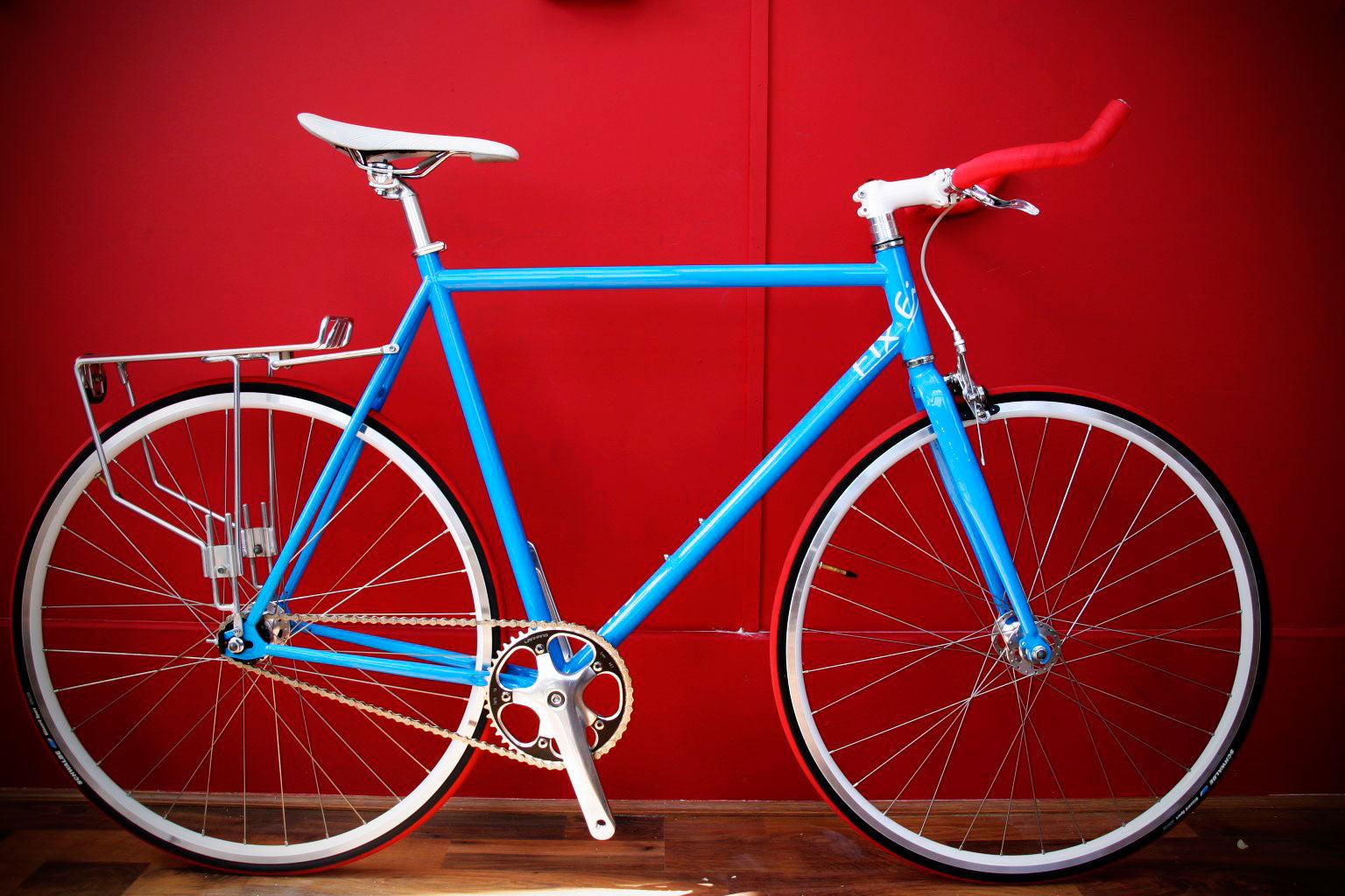 fixie with pannier