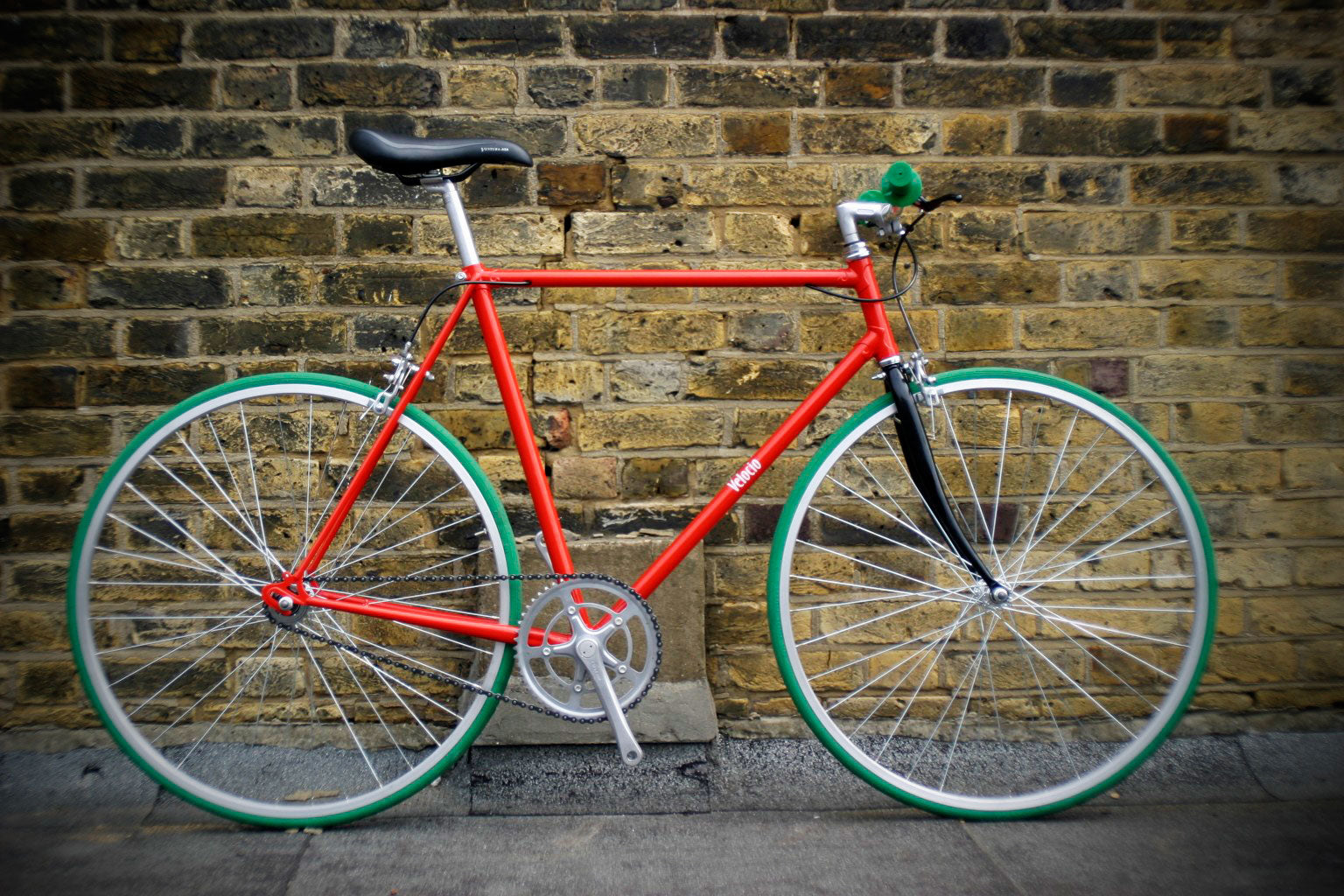 single speed racer red