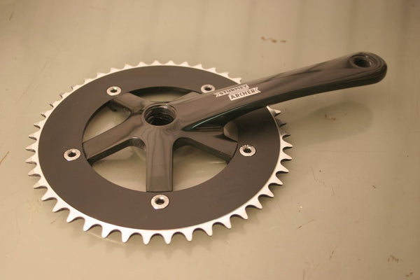 black single speed crankset