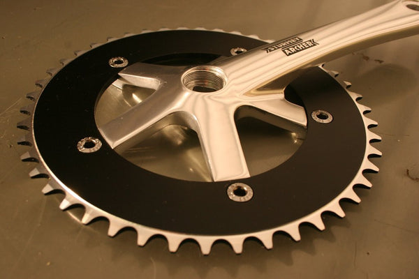 Silver single speed crankset