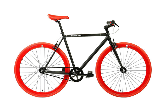 Single Speed & Fixed Gear Bikes - Matte Black&Red 2
