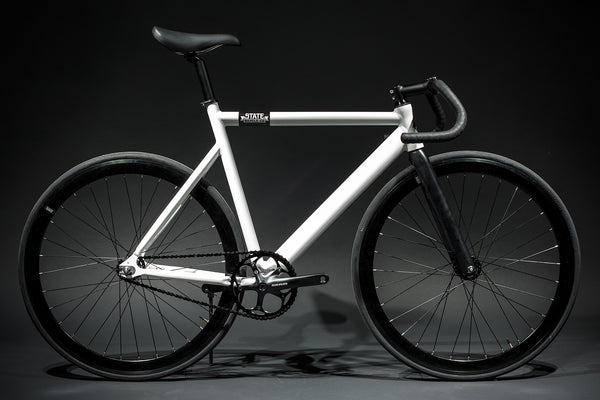 premium fixed gear bike white