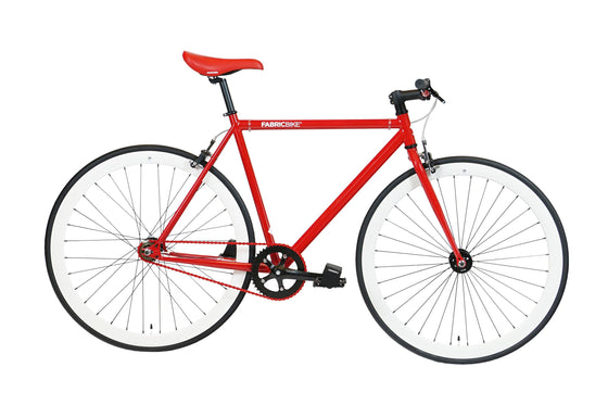Single Speed & Fixed Gear Bikes - Red&White