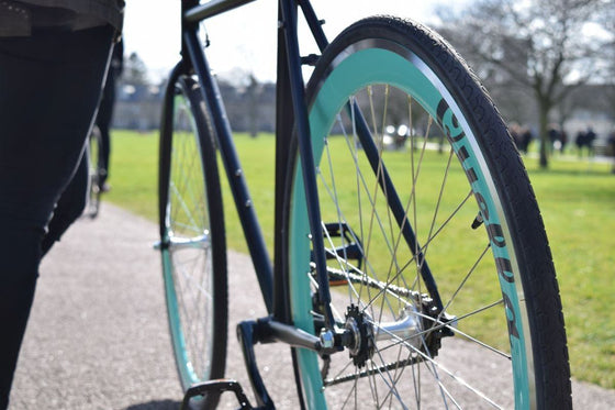 Single Speed & Fixed Gear Bikes - Nero-Turquoise