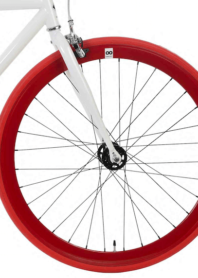 Single Speed & Fixed Gear Bikes - White&Black&Red