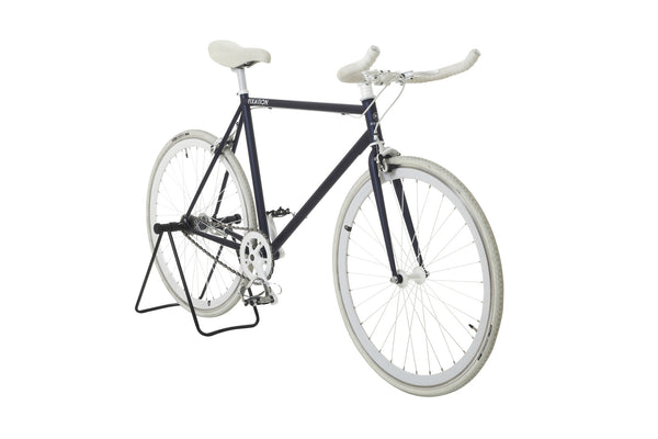 matte blue fixed gear bike