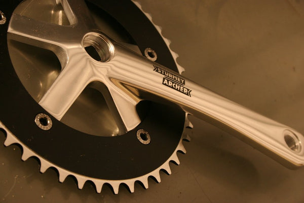Silver single speed chainset