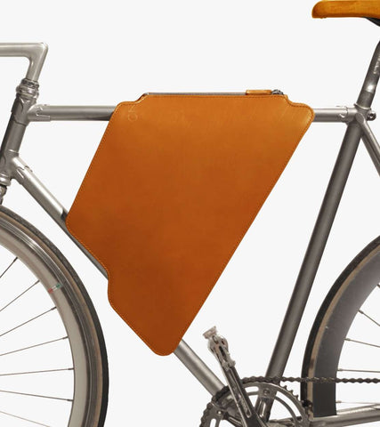 Light brown cycling bag