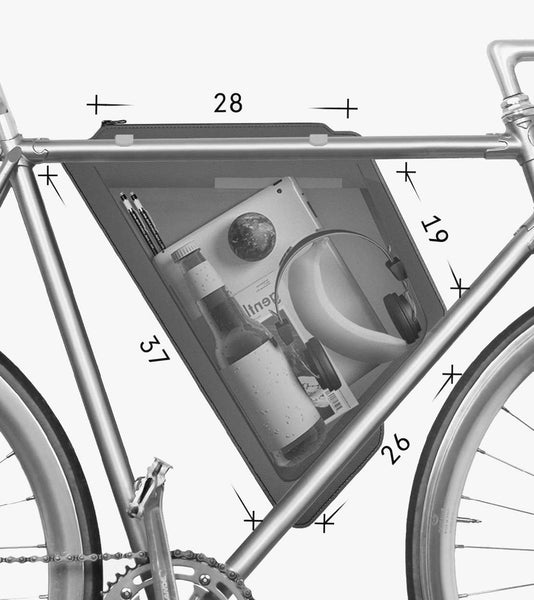bicycle frame attaches bag