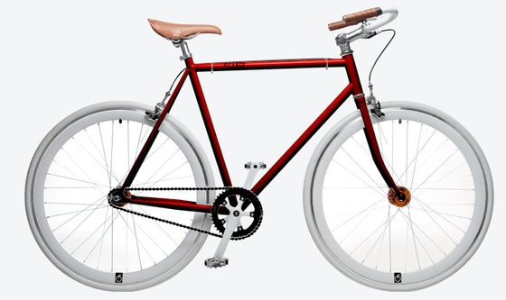 Single Speed & Fixed Gear Bikes - Pitango Red Wb