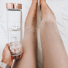 "Load image into Gallery viewer, ""I Don't Sweat, I Sparkle"" - LIVEJIVA Healing Crystal Water Bottle"