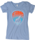 "Women's Tri-Blend Scoop Tee ""The Lake and the Stars"" - Blueberry"