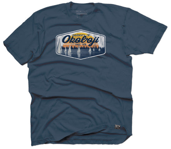 U of O Summer On The Water Tee - Indigo