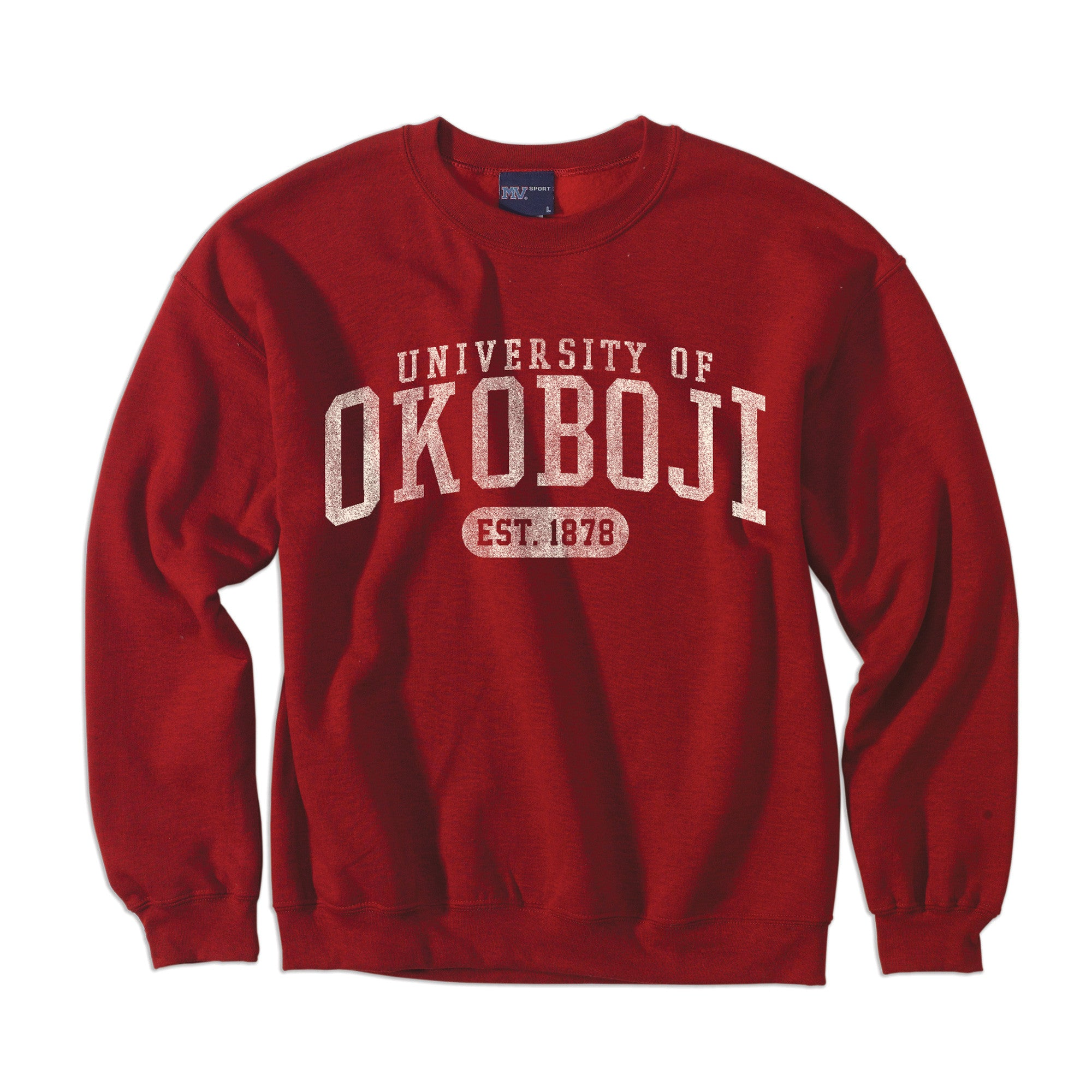 University of Okoboji Comfort Fleece Crew - Heathered Red