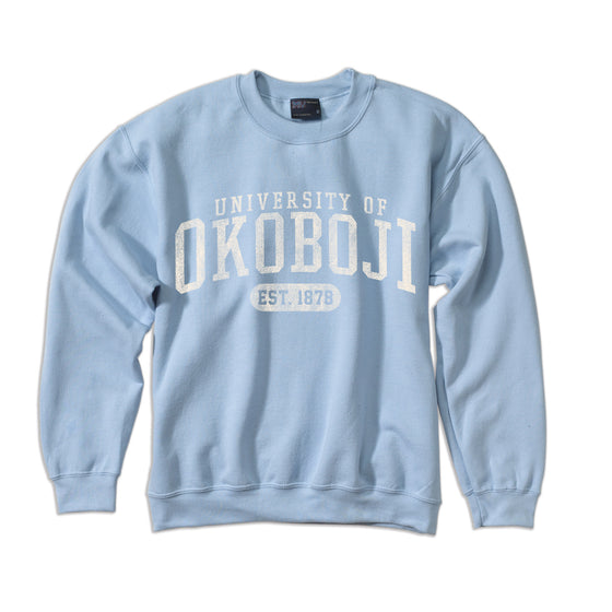 University of Okoboji Comfort Fleece Crew - Columbia Blue