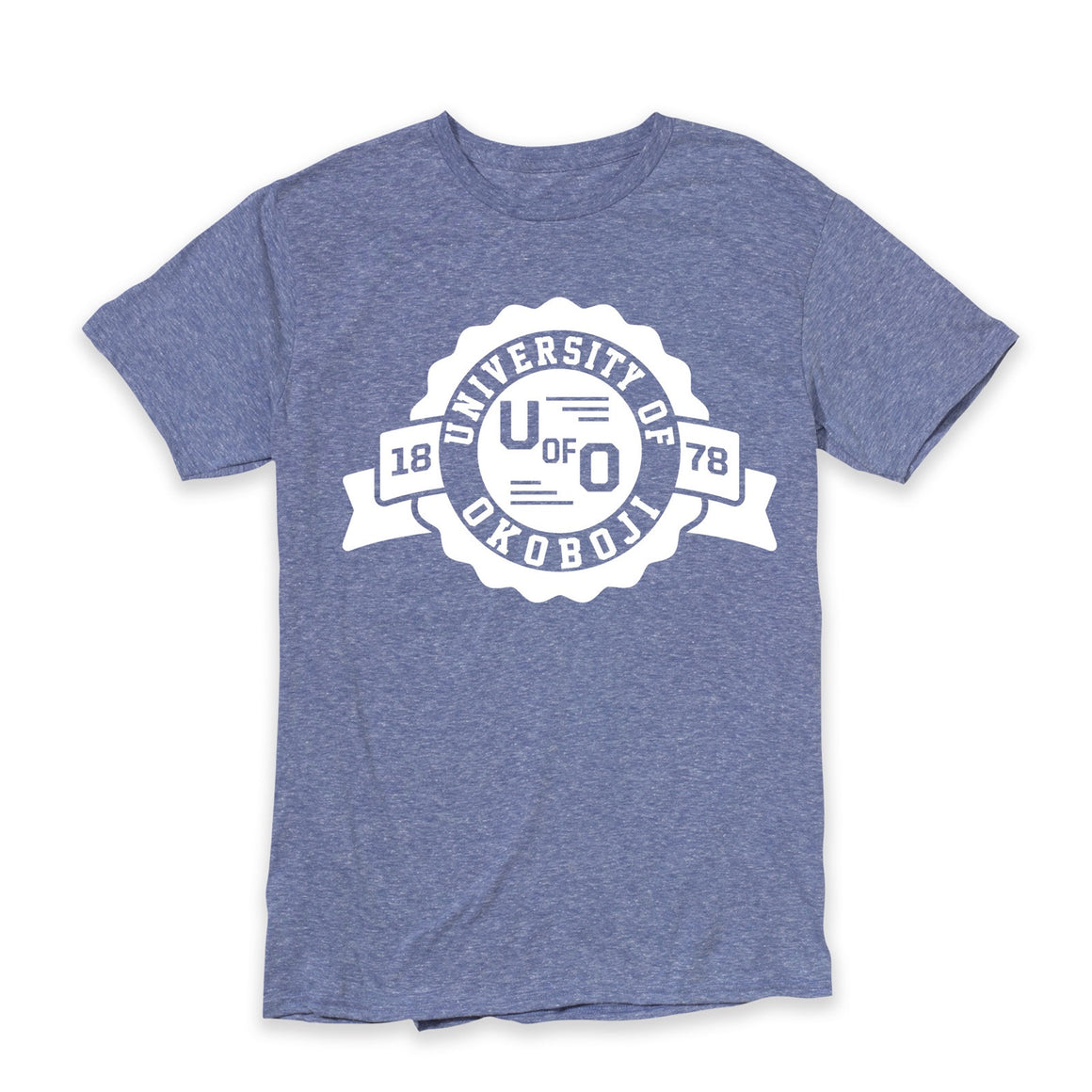 Old School U of O Blue Heather Tee