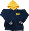 Kids Navy/Gold Full Zip Varsity Hood