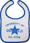 University of Okoboji Baby Bib - Blue