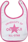 University of Okoboji Baby Bib - Pink