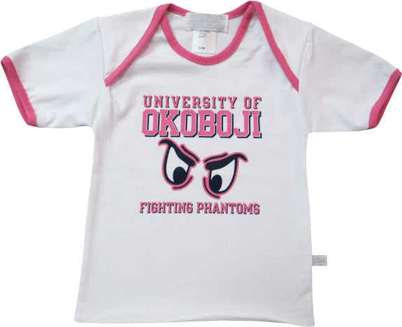 "Infant Tee ""Phantom Eyes"" - White/Pink"