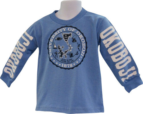 Youth Okoboji Crest Long Sleeve Tee