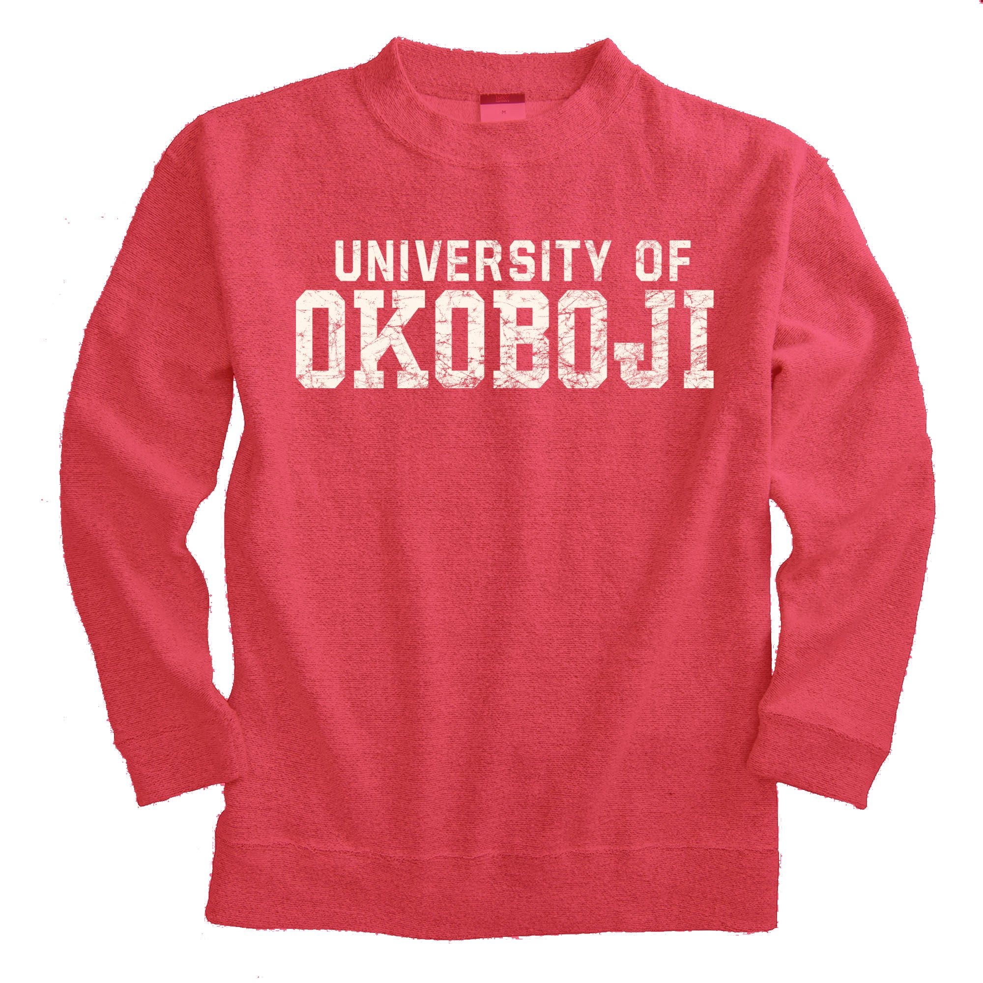 U of Okoboji Lyla Loop Fleece Mock-Neck (Crimson)