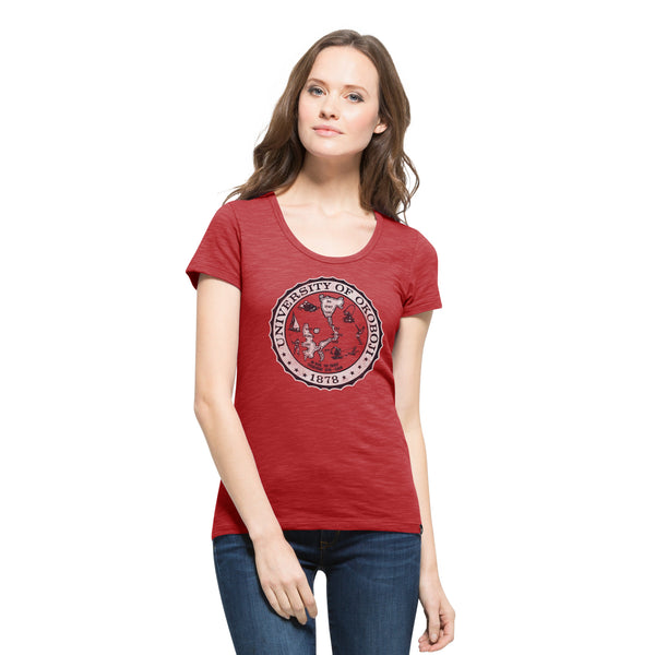 U of O Ladies Scrum Scoop Tee